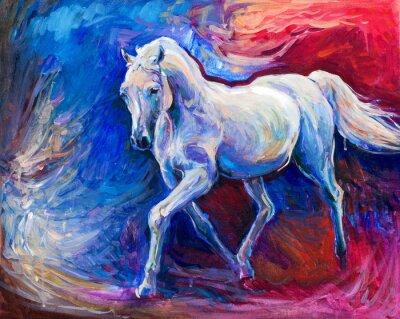 Quadro Cavalo azul