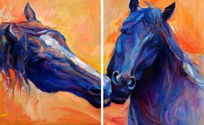 Quadro Cavalos azuis