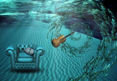 Quadro Cena Subaquático Surreal