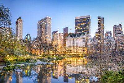 Quadro Central Park New York City no crepúsculo
