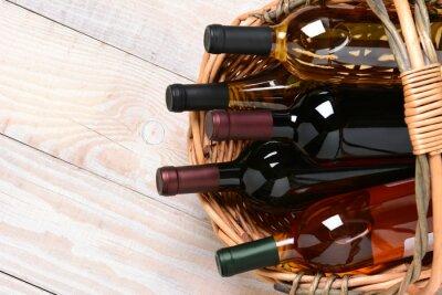 Quadro Cesta de garrafas de vinho