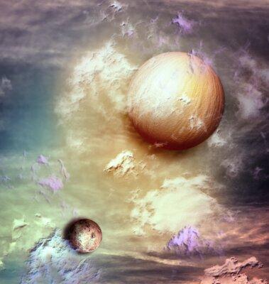 Quadro Céu com planetas