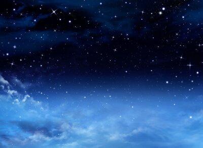 Quadro Céu nocturno com estrelas