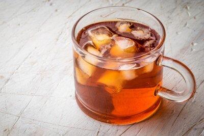 Quadro Chá, gelo, branca, riscado, tabela