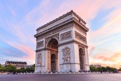 Quadro Champs-Elysees em Paris no por do sol