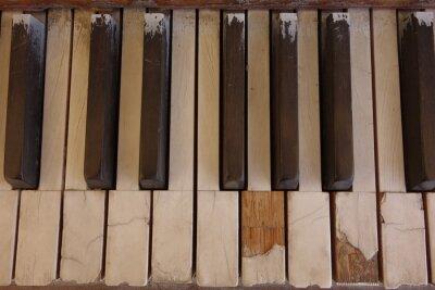 Quadro Chaves de piano marfim resistido