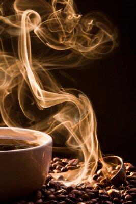 Quadro Cheiro de bom cofee de um copo