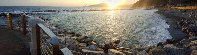 Quadro Chiavari praia vista panorâmica