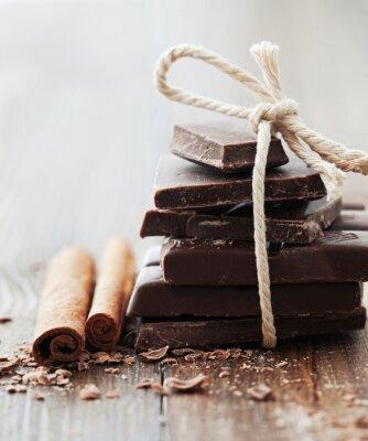 Quadro Chocolate e canela