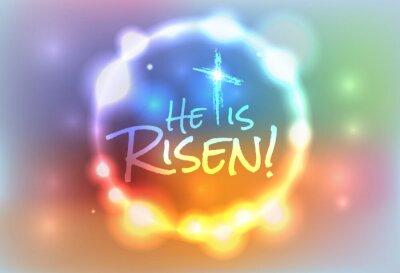 Quadro Christian Easter Ilustração Ressuscitado
