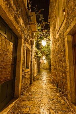 Quadro Cidade velha em Budva Montenegro