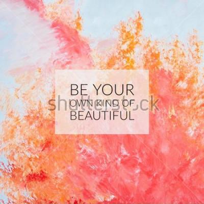Quadro Citação de motivação de inspiração sobre a vida