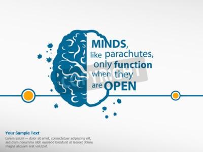 Quadro Citações inspiradores inspiradas no fundo do cérebro