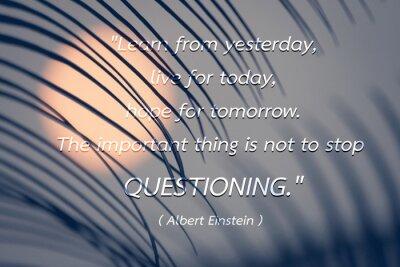 Quadro Citações pelo fundo de Albert Einstein.