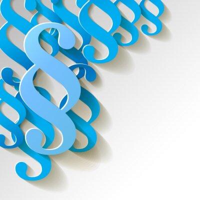 Quadro Cláusula de papel padrão de fundo azul