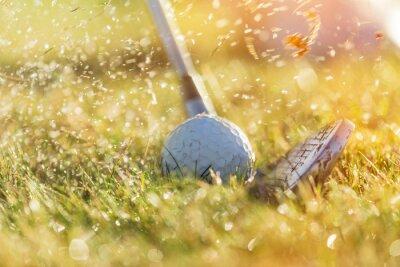 Quadro Close-up da esfera de golfe.