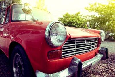 Quadro Close-up, farol, coloridos, clássico, car