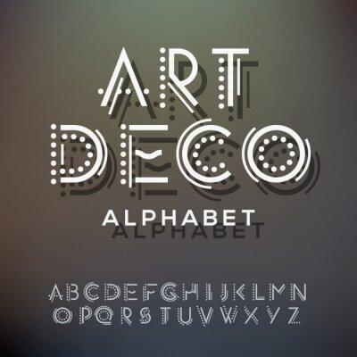 Quadro Coleta de letras do alfabeto, de estilo art deco
