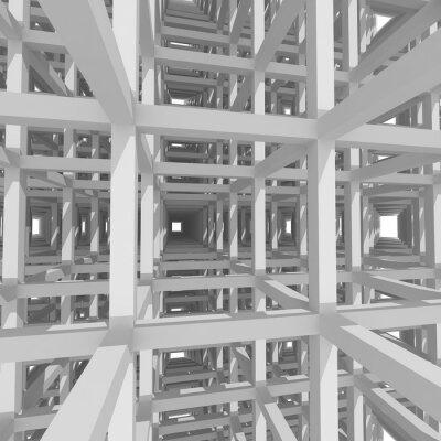 Quadro Colunas e vigas 3d, arquitetura fundo.