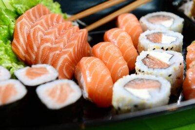 Quadro Comida japonesa - sushi