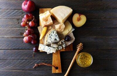 Quadro Composição de queijo escuro