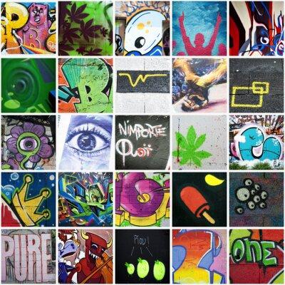 Quadro Composição grafite arte Urbain