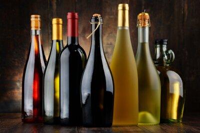 Quadro Composição, sortido, garrafas, vinho