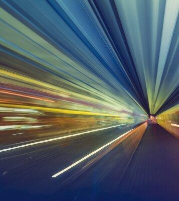 Quadro Conceito, alta, velocidade, tecnologia, através, Um, Tokyo, monorail