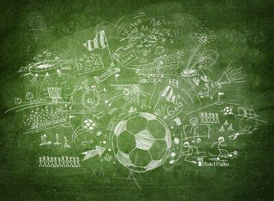 Quadro Conceito de futebol Blackboard