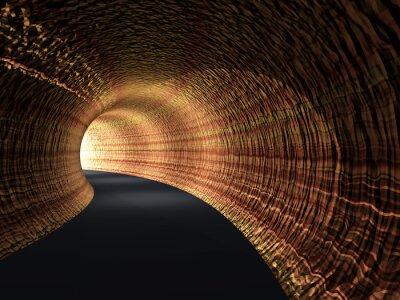 Quadro Conceitual, abstratos, estrada, túnel, luz, fim