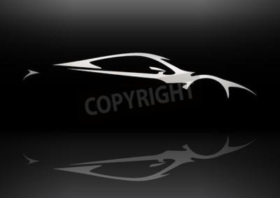Quadro Concept Sportscar Silhueta do veículo 06