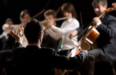 Quadro Condutor dirigir orquestra sinfônica