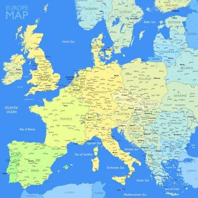 Quadro Cor Europe map