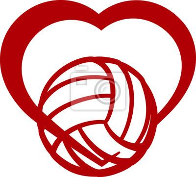 Quadro Coração Voleibol