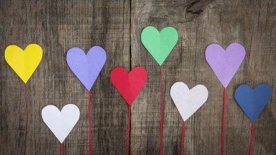 Quadro Corações de papel