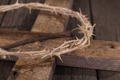 Quadro Coroa, espinhos, cruz