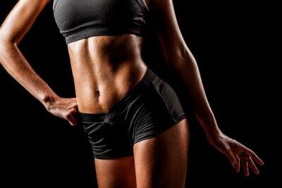 Quadro corpo da mulher esporte