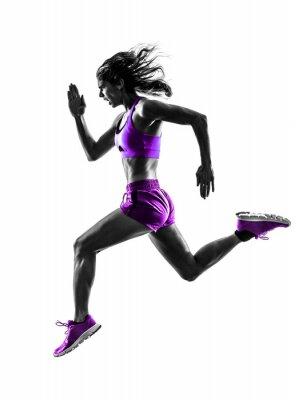 Quadro corredor da mulher silhueta running corredor corrida