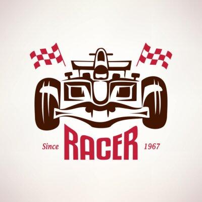 Quadro Corridas de Fórmula carro emblema, símbolo bólido de corrida