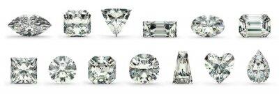 Quadro Cortes de diamantes