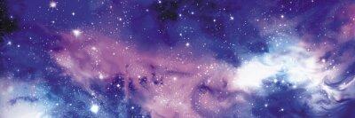 Quadro Cosmos banner com estrelas