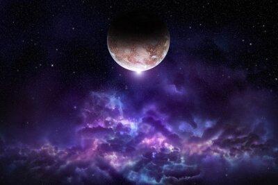 Quadro Cosmos, cena, planeta, nebulosa, estrelas, espaço