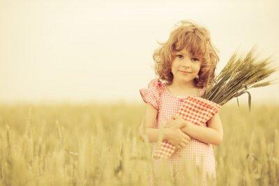 Quadro Criança feliz no Outono