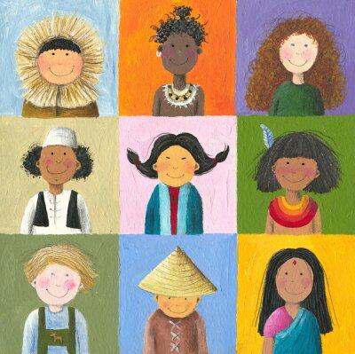 Quadro crianças do mundo