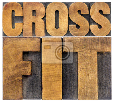 Quadro crossfit word abstract