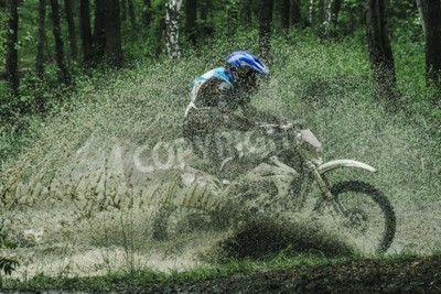 Quadro Cruzeiro de cruzeiro de motocross de Motocross, salpicos de água na competição
