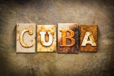 Quadro Cuba Conceito tipografia Couro Tema