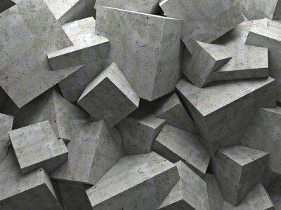 Quadro cubes wall