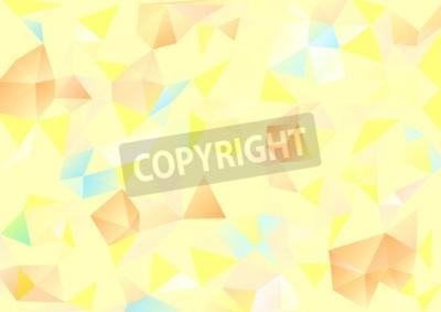 Quadro Cubismo fundo Amarelo pálido e azul alaranjado