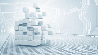 Quadro Cubo, virtual, sala